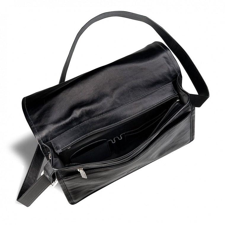 5c2759c1adb8 ... Кожаная мужская сумка через плечо BRIALDI Ancona BR00949XQ black фото 3  — 2chemodana ...