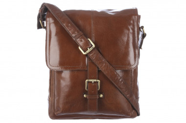 Кожаная сумка Ashwood Leather Benjamin AL1299D/101 Chestnut Brown — 2chemodana