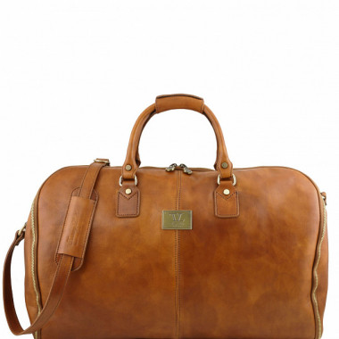 Портплед кожаный Tuscany Leather TL141538 телесный — 2chemodana