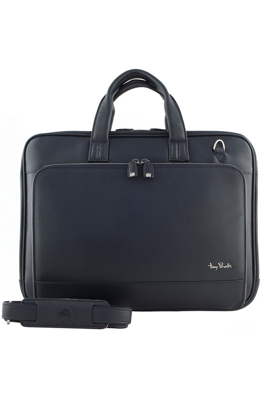 a11e5204ad6f Бизнес сумка кожаная мужская Tony Perotti Contatto 560110W/23 синий фото 1  — 2chemodana