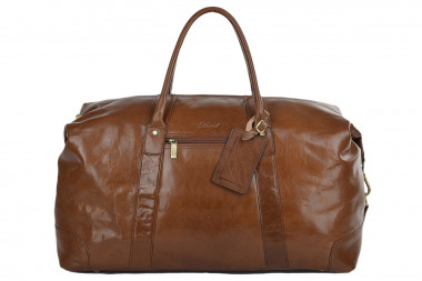 Кожаная дорожная сумка Ashwood Leather Harold ALHarold/108 Chestnut Brown — 2chemodana