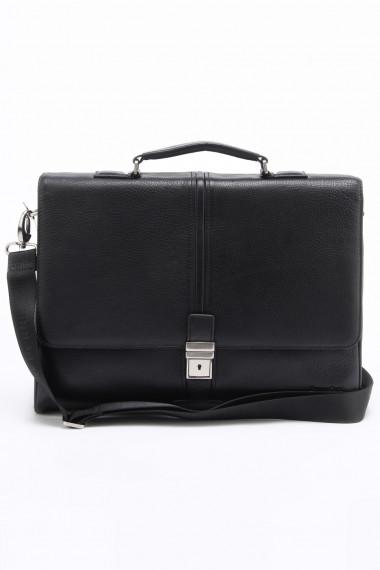 fcae352c497c Портфель мужской кожаный Bruno Perri 5859-7/1 черный — 2chemodana