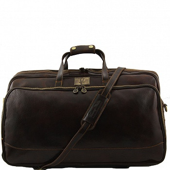 ee74f0c0cec9 Сумка дорожная кожаная на колесах Tuscany Leather, BORA BORA Big TL3067  dark brown фото 1