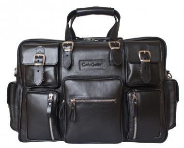 3365a6addba3 Кожаная дорожная сумка Carlo Gattini Classico Fornelli 5033-01 black —  2chemodana