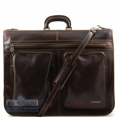 Портплед кожаный Tuscany Leather, TAHITI TL3030 dark brown — 2chemodana