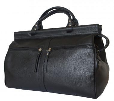 Кожаная дорожная сумка-саквояж Carlo Gattini Classico Veano 4004-01 black —  2chemodana 9a4f3e69ad8