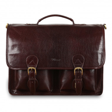Портфель Ashwood Leather 8190 Cognac — 2chemodana