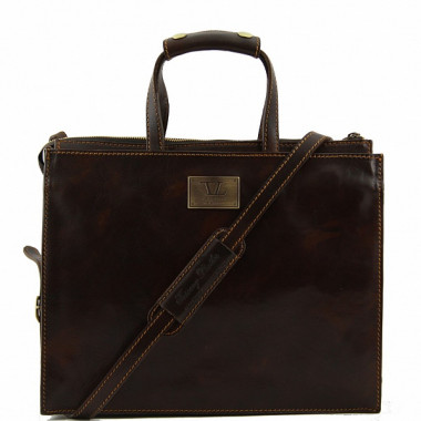 Портфель женский кожаный Tuscany Leather, Palermo TL10060 dark brown — 2chemodana