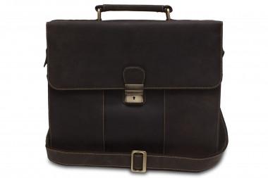 788f0b326327 Портфель мужской кожаный Visconti 16038, Oil brown — 2chemodana