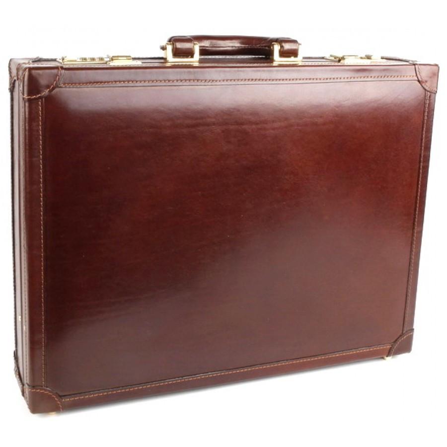 6b4d5f56148b Дипломат мужской кожаный Chiarugi 4503 коричневый фото 1 — 2chemodana