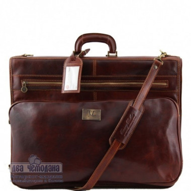Портплед кожаный Tuscany Leather, Papeete TL3056 brown — 2chemodana