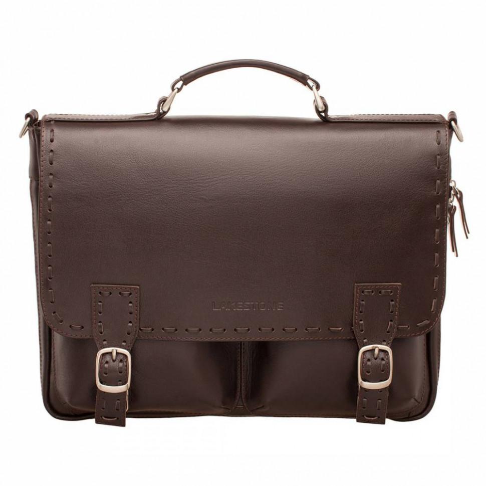 90f91d490a71 Мужской кожаный портфель LAKESTONE 943058/BR коричневый фото 1 — 2chemodana