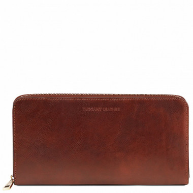Портмоне Tuscany Leather EXCLUSIVE LEATHER TRAVEL DOCUMENT CASE TL141663 brown — 2chemodana